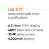LG K71手机在全球推出随后将在多个市场上市